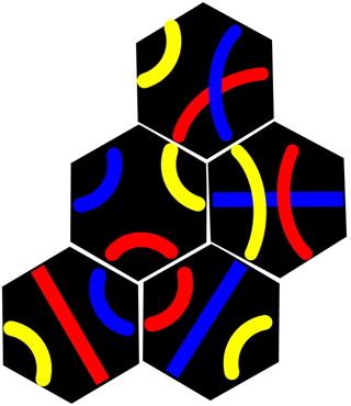 A 5 tile Tantrix puzzle to solve